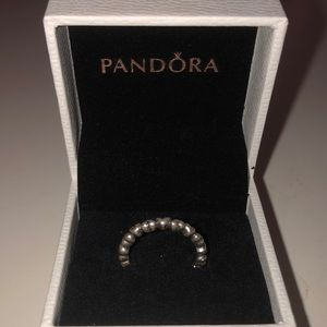 Authentic Silver Hearts Pandora Ring